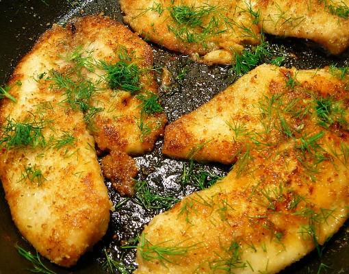 Готовим рыбу в сухарях с лимоном