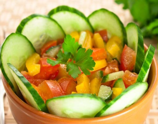 Обычный овощной салат