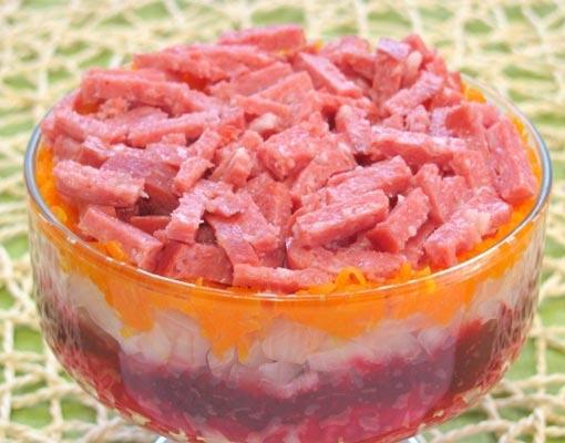Салат из свеклы и картофелем