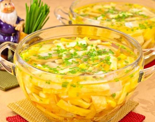 Куриный суп с блинами
